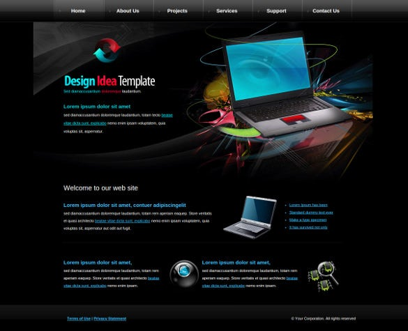 simple creative computer reapir website template
