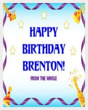 Birthday Celebration Poster Template free