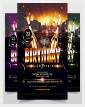 Birthday Party Poster Template free