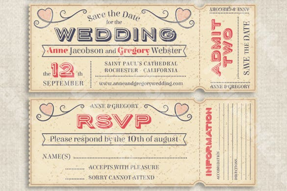 Editable Wedding Invitation Ticket  Airline Ticket Invitation