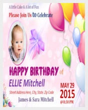 Children Birthday Poster Template free