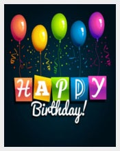Happy Birthday Vector Background Free Vector free