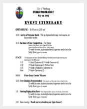 Pitts Burg Event Itinerary free