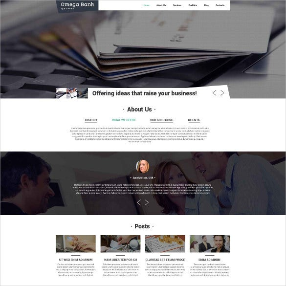 bank accounting drupal website template