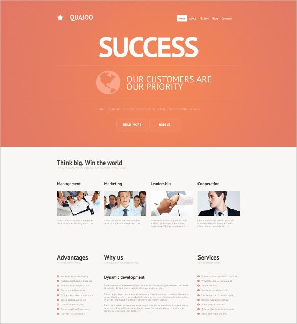 accounting website moto cms html website template
