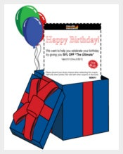Birthday Email Coupon Template free