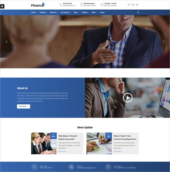 finance business accounting wordpress website theme