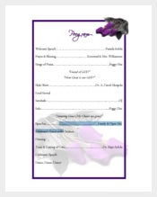 60th Birthday Program Template Free