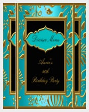 Birthday Dinner Menu Card Template free