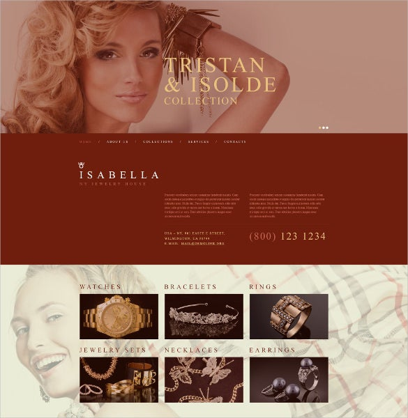 premium jewelry muse website template