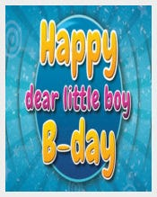 Kids Birthday Postcard Template free