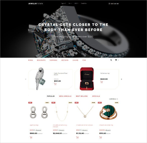 jewelry town prestashop website theme