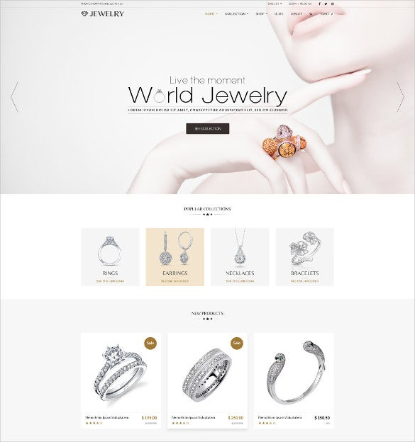 jewelry responsive shopify website theme
