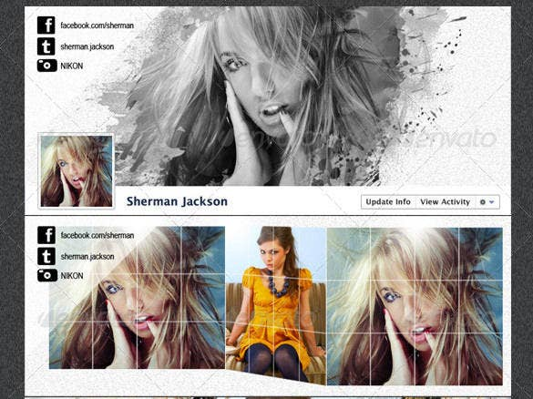 prophoto artistic facebook timeline cover psd template1