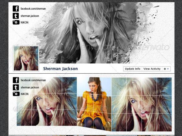 prophoto artistic facebook timeline cover psd template1