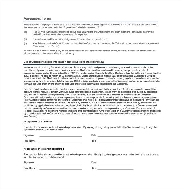 Business Services Contract Agreement