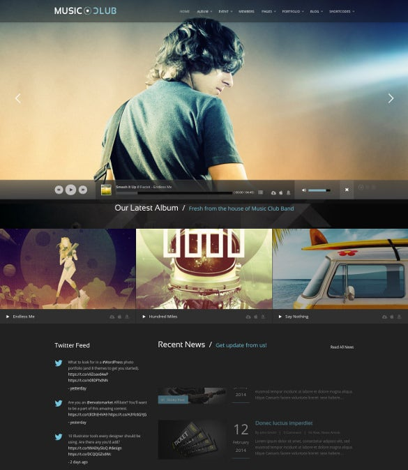 music radio station wordpress website theme