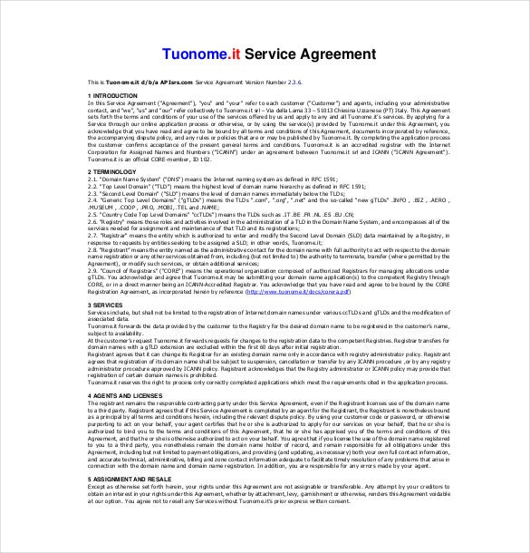 Service Agreement Template   Free Word Pdf Document Download