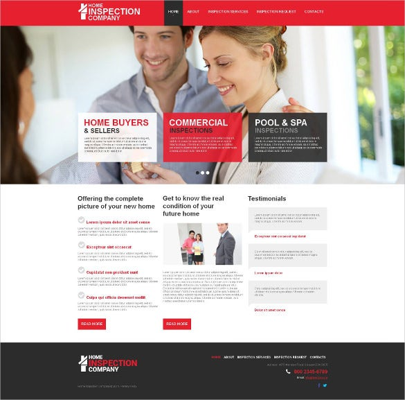 mortgage moto cms html website template