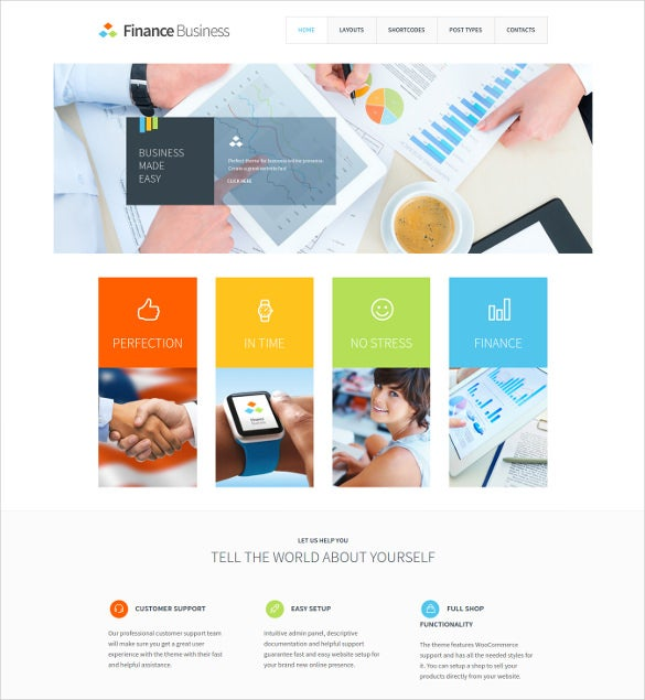 mortgage company office corporate website theme