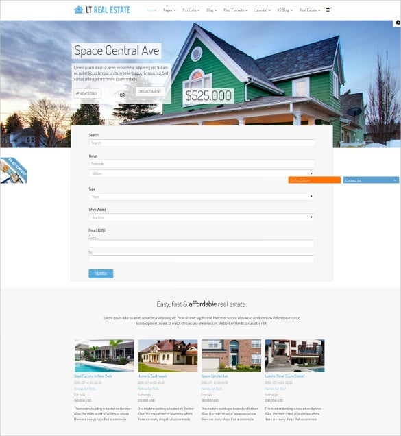 Real Estate Mortgage Joomla Website Template $29  Mortgage Templates