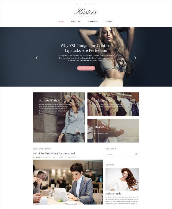 attractive fashiom wordpress website theme