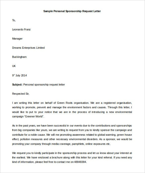 Formal letter format sample of request expocarfo Choice Image