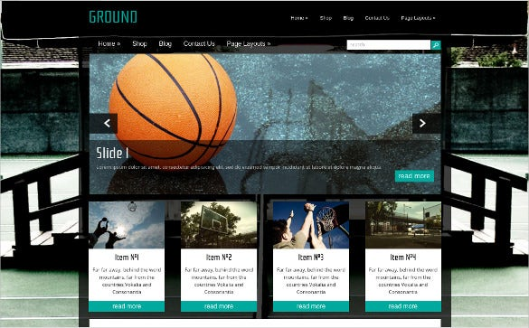 free gaming html website template