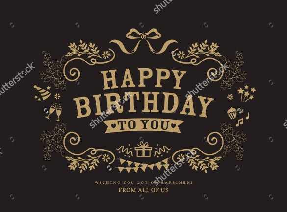 21 birthday card templates free sample example format download vintage birthday card template download bookmarktalkfo Images
