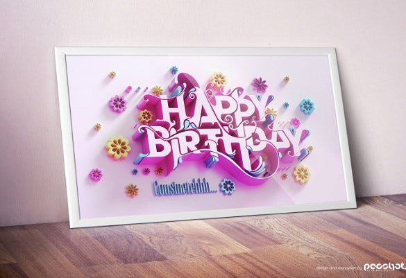 AD Birthday Card Template Free Download