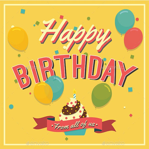 Attractive Designed Birthday Card Template Free Download With Birthday Cards Format