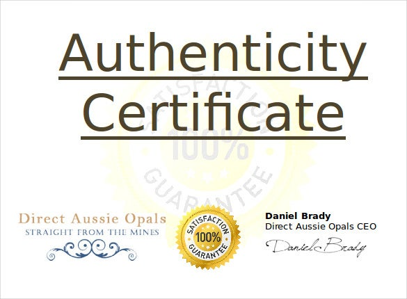 Certificate of authenticity template aradio certificate of authenticity template yadclub Gallery