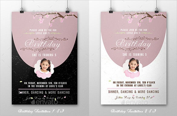 easy edit birthday invitation template with image