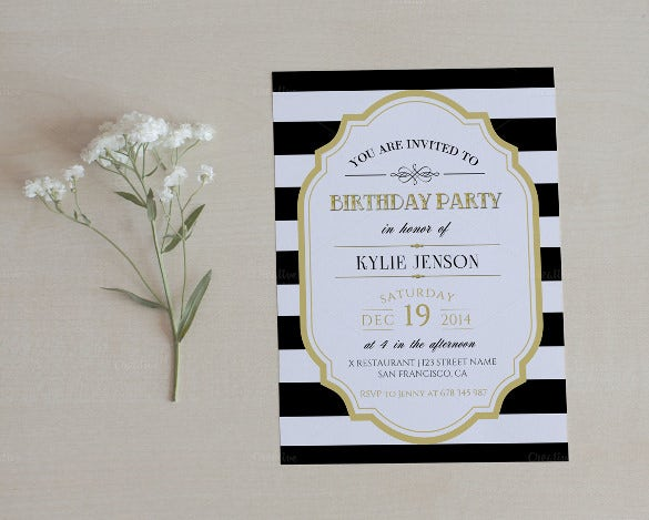 Birthday Party Invitation Template Free Download  Free Invitation Download