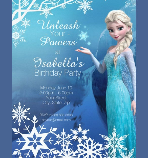 elsa birthday invitations Josemulinohouseco