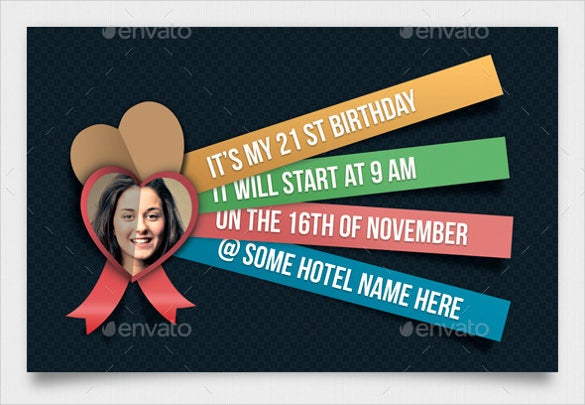 creative birthday invitation template