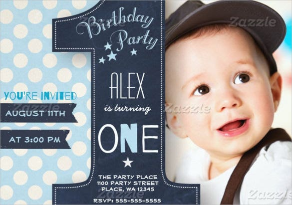 First Birthday Party Invitation Template Free Download