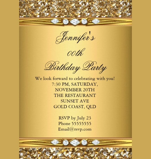 Eligent Diamonds Birthday Invitation Template