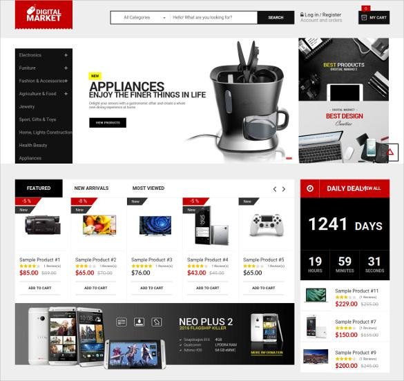 multipurpose ecommerce responsive magento website theme