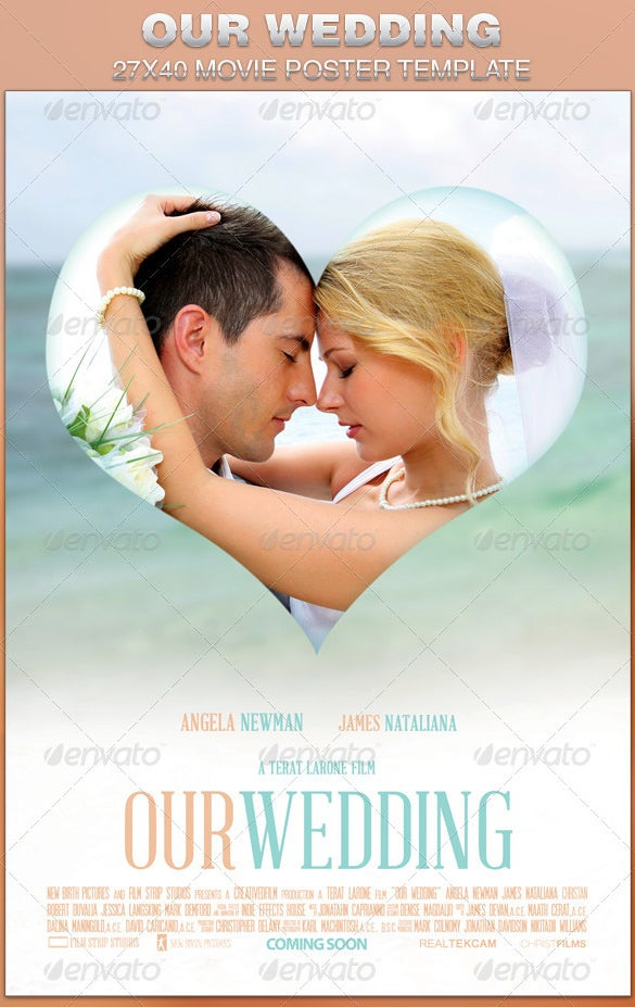 Wedding Movie Poster Template Koran Sticken Co