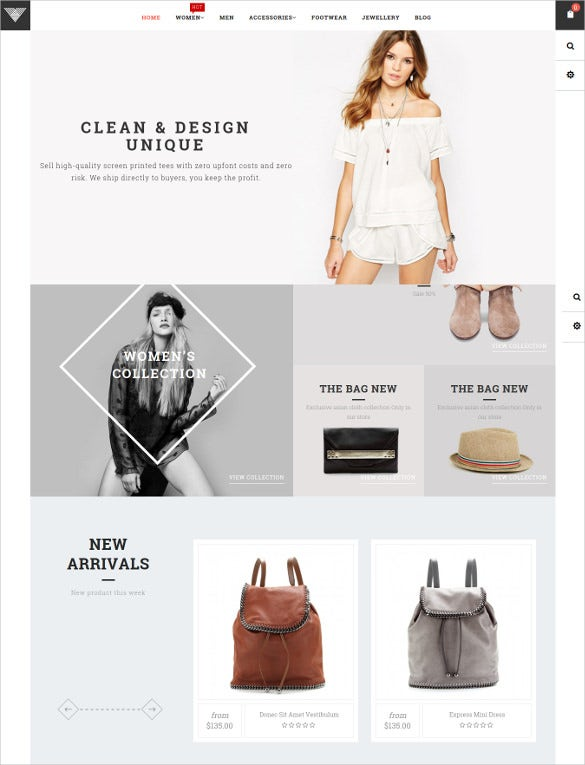 responsive ecommerce magento shopify template