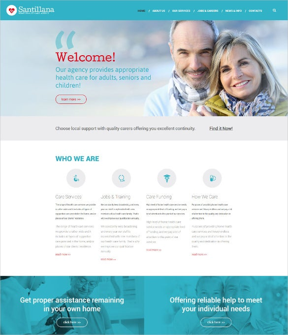 home health care agency drupal website template