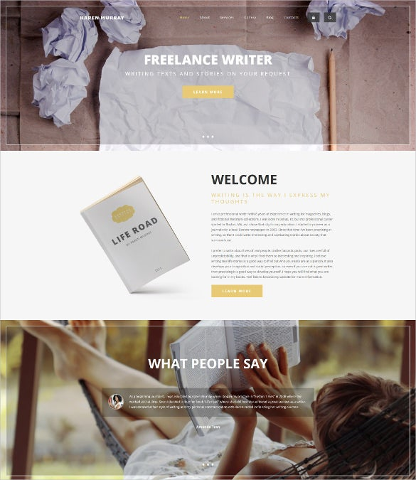 freelance writer drupal website template
