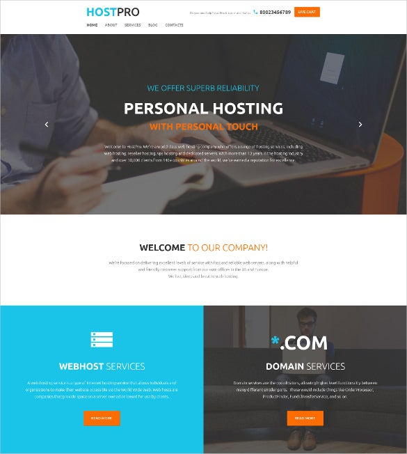 hostpro wordpress html5 blog theme