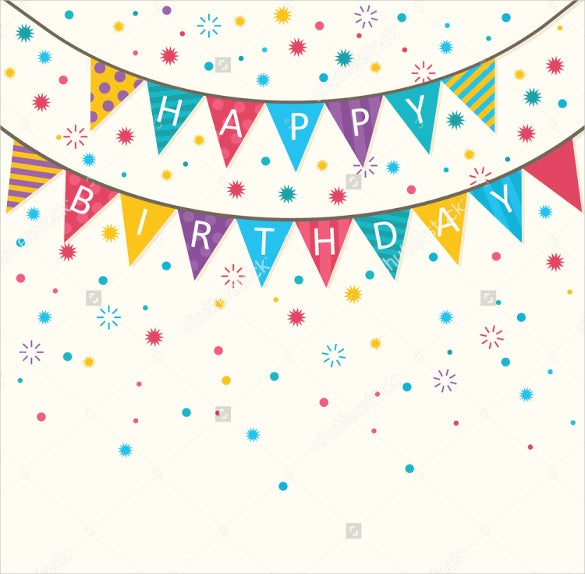 simple birthday banner template download