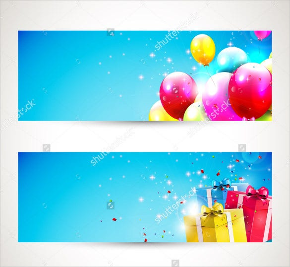 easy to edit birthday banner template