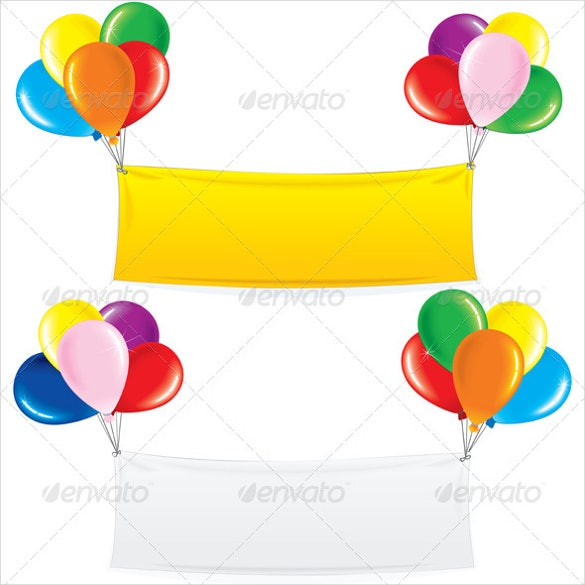 balloon themed birthday banner template free download