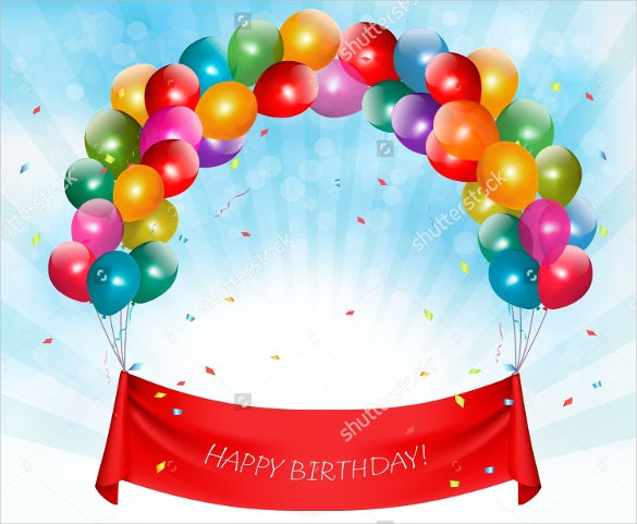 half circle balloon theme birthday banner template