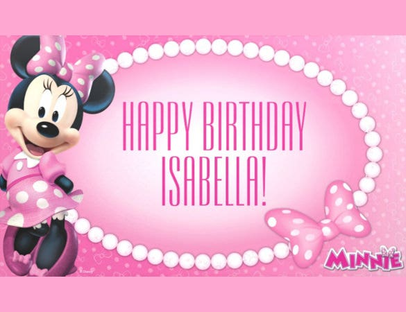 cartoon theme birthday banner template download