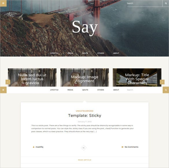 a personal html5 blogging template